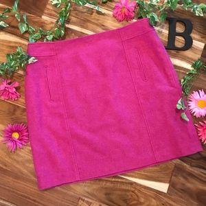 Talbots Women Skirt Plus 18 Hot Pink Wool Straight